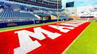 Ole Miss end zones painted to honor Manning