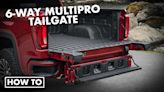 2021 GMC Sierra 1500 AT4 Driveway Test | How to use the GMC MultiPro Tailgate