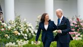 Kamala Harris Gets Flowers, Cake, Kisses and a Presidential Present on 57th Birthday: 'Very Touched'