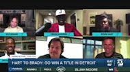 Kevin Hart challenges Tom Brady to go win a title in Detroit