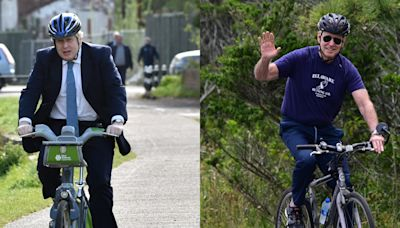 Biden gifts UK Prime Minister Boris Johnson, a cycling enthusiast, an American-made bicycle during his first overseas trip