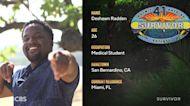 Meet Miami Med Student Deshawn Radden, Castaway On Survivor Season 41