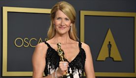 Dern Wins Supporting Actress Oscar for 'Marriage Story'