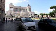 British expats arrive in Rome for England v Ukraine