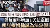 【勞工假】政府倡明年增佛誕為法定假日 隨後每兩年增加1天 2030年與17天公眾假期看齊 - 香港經濟日報 - TOPick - 新聞 - 社會