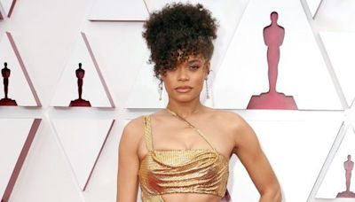 Andra Day Looked Abs-olutely Stunning In A Gold Cut-Out Dress At The Oscars