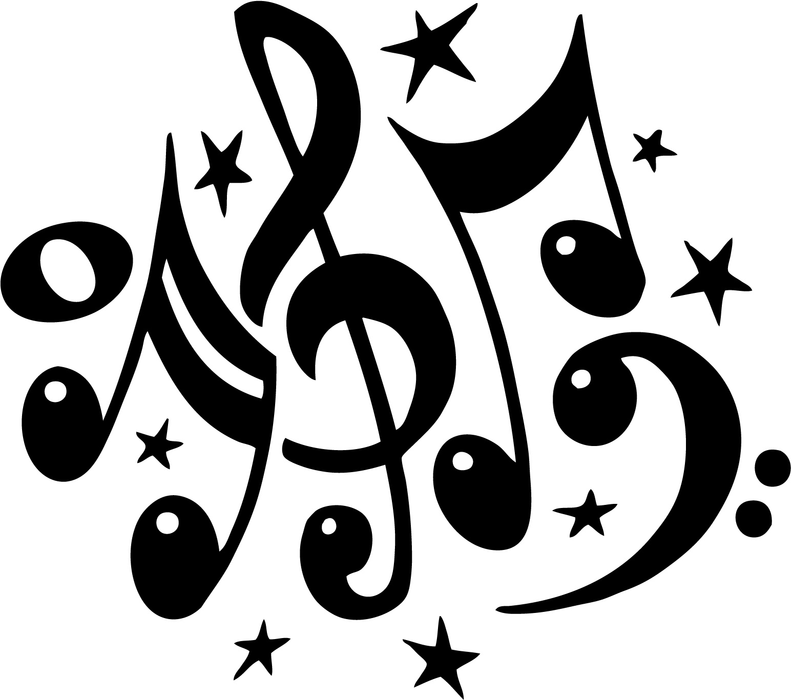 Free Clipart Music Notes 020511» Vector Clip Art - Free Clipart ...