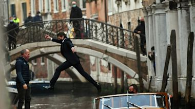 "Shooting of the movie ""Mission Impossible: Lybra"" featuring Tom Cruise in Venice"
