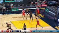 Moses Brown with a dunk vs the Golden State Warriors