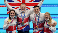 Adam Peaty puts GB pool success down to hard work after medley relay gold