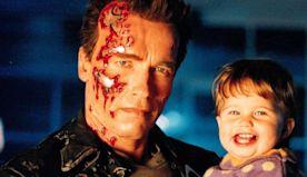 See Baby Katherine Schwarzenegger with Terminator Dad Arnold as She Celebrates Dark Fate Sequel