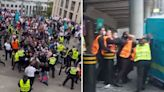 Uefa start disciplinary proceedings against FA after England yobs storm Wembley
