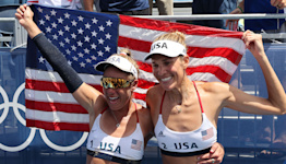 America's A-Team wins gold in beach volleyball