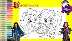 My Little Pony Equestria Girls Repainted as Disney Descendants Mal & Evie My Little Pony Makeover
