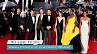 Kate Middleton Glitters in Gold While Walking James Bond No Time to Die Red Carpet with Prince William
