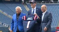 Patriots' No. 1 draft pick Mac Jones makes first visit to Gillette Stadium
