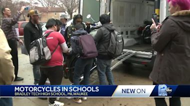 Motorcycle company donates bikes to high school students