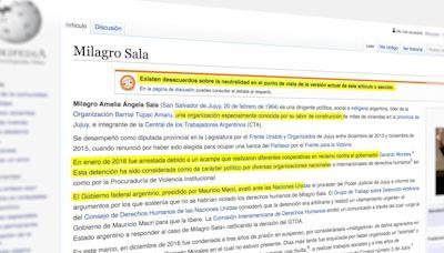 ¿Kirchnerpedia? La militancia copó las definiciones políticas de Wikipedia