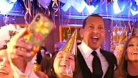 Jennifer Lopez and Alex Rodriguez Share a New Year's Kiss as They Celebrate with Their Kids