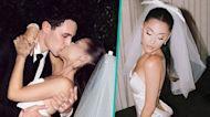 Ariana Grande & Dalton Gomez Kiss In Dreamy First Wedding Photos
