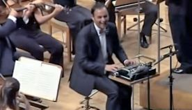 Old-Fashioned Typewriter Becomes Hilarious New Instrument In Orchestra.