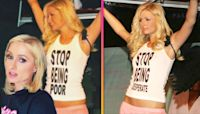 Paris Hilton Says Her 'Stop Being Poor' Shirt Was Photoshopped