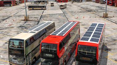 九巴安裝逾2.2萬塊太陽能板 包括過千車站及巴士車頂