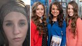 Jill supported by sisters Joy-Anna, Jinger and Jessa after miscarriage