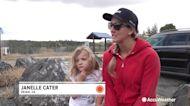 Families preparing to evacuate for debris flow threat