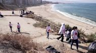 Lebanese activists lead beach clean-up and swim