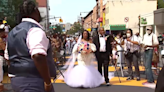 NYC couple gets married on Black Lives Matter mural in Brooklyn