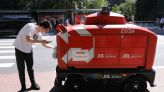 Pandemic Pushes Chinese Tech Giants to Roll Out More Courier Robots