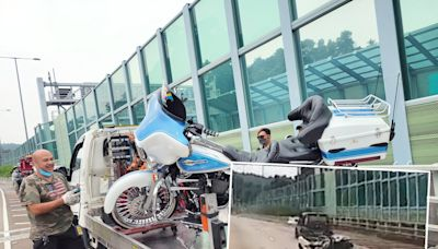 車CAM直擊 吐露港電單車疑切線撞私家車 鐵騎士昏迷