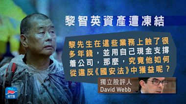 David Webb質疑凍結黎智英資產理據 許正宇︰香港環境一切如常 | 蘋果日報
