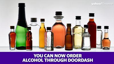 You can now order alcohol through DoorDash