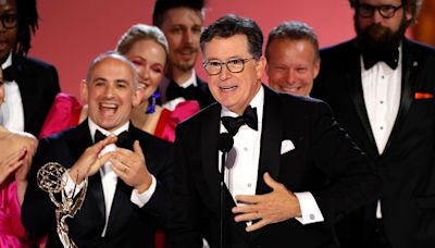 Emmy Winner Stephen Colbert Says Wife Evie Was a 'Huge Part' of Making His Show During COVID