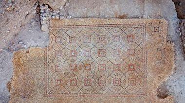 以色列出土 千年色彩斑斕馬賽克地磚