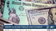 Errors in second stimulus check payments