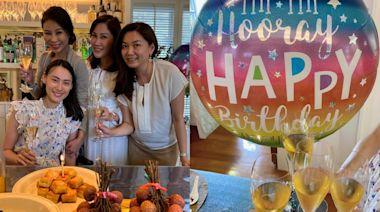 梁洛施提前慶祝33歲生日 素顏出席聚會少女味十足