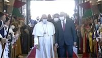 Pope Francis arrives in Baghdad to begin historic first Papal trip to Iraq