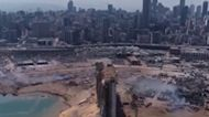 Drone Footage Shows Parts of Beirut Port Leveled by Explosion