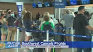 Southwest Airlines Cancels Dozens Of Flights At Denver International Airport Due To Weather