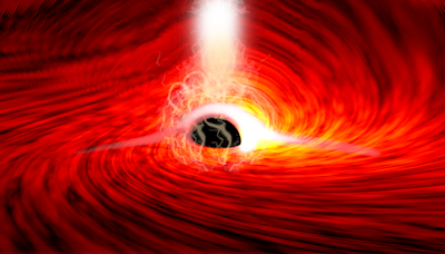 'Warping space': For the first time, light has been spotted from behind a black hole