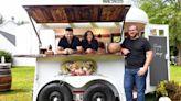 Orange couple transforms horse trailer to mobile bar