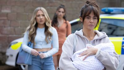 Hollyoaks' Mercedes and Cher baby kidnap details