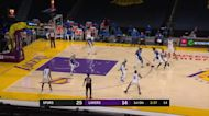 DeMar DeRozan with an and one vs the Los Angeles Lakers