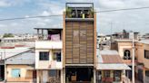 Giant shutters front Bardales fitness centre in Ecuador by Natura Futura