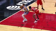 Blake Griffin with an and one vs the Chicago Bulls