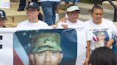 At march for slain National Guard member, family cries out for justice