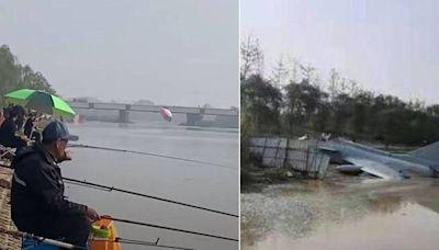 影片曝光!中國殲-10S墜毀 機首斷裂、飛行員緊急跳傘